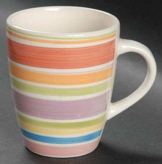 Gibson Designs Rosita Rainbow Mug, Fine China Dinnerware   Multicolor Bands On W