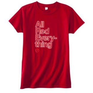 Womens Fitted All Red Everything T Shirt   M