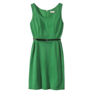 Merona Petites Sleeveless Fitted Dress   Green XSP
