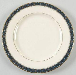 Gorham Delamere Salad Plate Fine China Dinnerware Cream Blue Border Gold Tr & Gorham Delamere Salad Plate Fine China Dinnerware Cream Blue ...