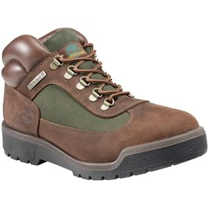 Timberland Mens Waterproof Field Boot Brown Nubuck Olive Green Boots   10025