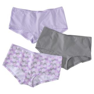 Hanes Womens Premium 3 Pack No Panty Lines String Boyshort EV49AS   Assorted