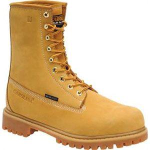 Carolina Mens 8 Inch Waterproof Insulated Work Boot ST Wheat Boots   CA7545