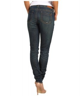 Buffalo David Bitton Gibson Mid Rise Skinny Jean in Green Tint Womens Jeans (Olive)