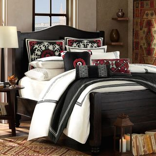 Artology Kalam 3 piece Comforter Set And Euro Sham Separate (WhiteMaterials: 100 percent cottonFill material: 100 percent polyesterHypoallergenic: YesCare instructions: Dry cleanQueen DimensionsComforter: 92 inches wide x 96 inches longShams: 20 inches wi