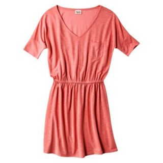Mossimo Supply Co. Juniors V Neck Dress   Maori Flower Red S(3 5)