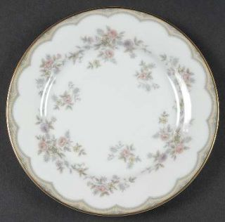 Noritake Roberta Bread & Butter Plate, Fine China Dinnerware   Tan Band/Lines, P