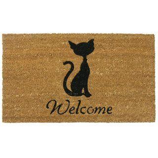 Meow Cat Coir Welcome Mat