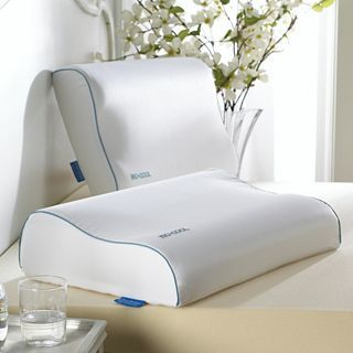 ISOTONIC Iso Cool Memory Foam Contour Pillow, White