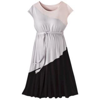 Liz Lange for Target Maternity Short Sleeve Colorblock Dress   Pink/Gray/Black