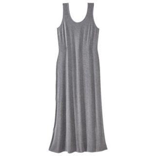 Merona Womens Plus Size Sleeveless V Neck Maxi Dress   Gray 1