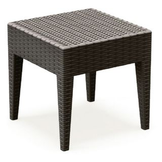 Compamia ISP858 BR Miami Square Resin Side Table   Brown   ISP858 BR