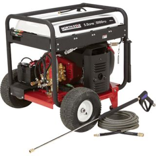 NorthStar Gas Cold Water Pressure Washer   5.0 GPM, 5000 PSI, Electric Start,