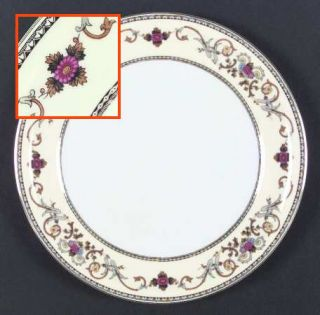Royal Embassy Wheeling (Japan) Dinner Plate, Fine China Dinnerware   Floral,Brow
