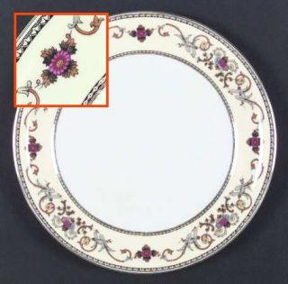 Royal Embassy Wheeling (Japan) Dinner Plate, Fine China Dinnerware   Floral,Brow