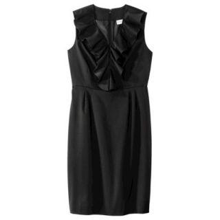 Merona Petites Sleeveless Sheath Dress   Black 4P