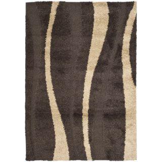 Safavieh Florida Shag Dark Brown/Beige Rug SG451 2813 Rug Size: Runner 23 x 7