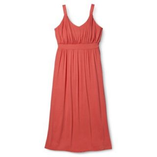 Merona Womens Plus Size Sleeveless V Neck Maxi Dress   Mango 3