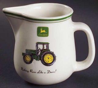 Gibson Designs John Deere (Tractor) Creamer, Fine China Dinnerware   Green&Yello