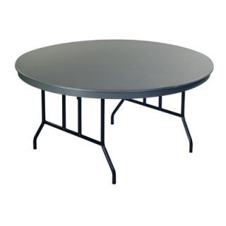 AmTab Manufacturing Corporation Dynalite ABS Plastic Round Folding Table R60D