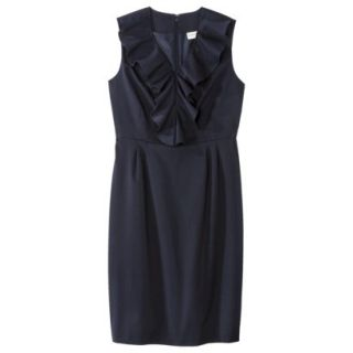 Merona Petites Sleeveless Sheath Dress   Blue 14P