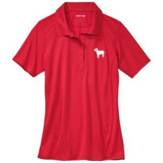 Womens Dry Zone Red Short Sleeve Polo   XS