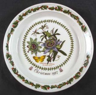 Portmeirion Botanic Garden 1997 Annual Christmas Plate, Fine China Dinnerware
