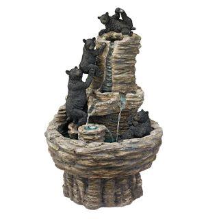 Design Toscano Rocky Mountain Splash Black Bears Garden Fountain   KY1015