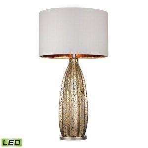 Dimond Lighting DMD D2533 LED Pennistone Gold Mercury Glass Bullet Lamp LED