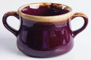 Nelson McCoy Brown Drip Open Onion Soup, Fine China Dinnerware   Dark Brown Drip