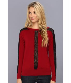 Nanette Lepore Oui Oui Pullover Womens Sweater (Red)