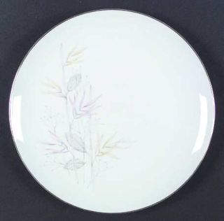Trend Pride Dinner Plate, Fine China Dinnerware   Gray, Pink, Yellow  Leaves, Go