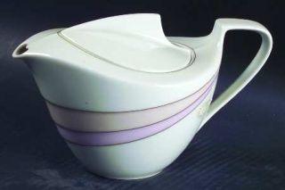 Hutschenreuther En Vogue Teapot & Lid, Fine China Dinnerware   MaximS De Paris,