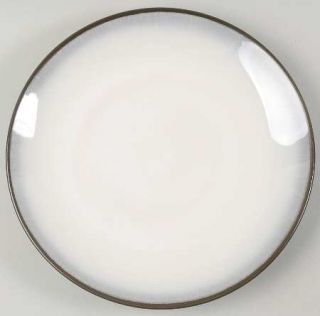 Sango Trend Charcoal Dinner Plate, Fine China Dinnerware   7105,Cream In,Black O