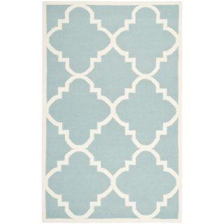Safavieh Dhurries Light Blue/Ivory Rug DHU633C Rug Size: 5 x 8