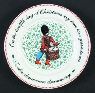 Domestications Twelve Days Of Christmas Salad Plate, Fine China Dinnerware   Bow