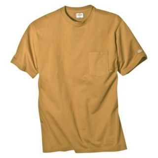 Dickies Mens Short Sleeve Pocket T Shirt with Wicking   Brown Duck M