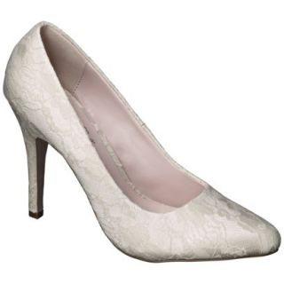 Womens De Blossom Selma Womens Lace High Heel Pump   Nude 9