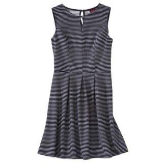 Merona Womens Textured Sleeveless Keyhole Neck Dress   Navy/White   S
