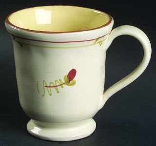 Vietri (Italy) Fiori Di Bosco Footed Mug, Fine China Dinnerware   Single Flower,