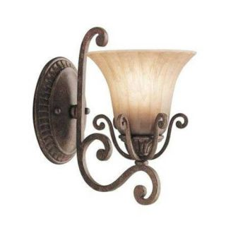 Kichler 6857CZ European Wall Mount 1 Light Fixture Carre Bronze