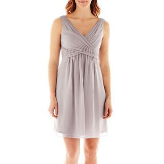 LILIANA Simply Sleeveless Chiffon Fit and Flare Dress, Dove