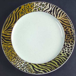 Studio Nova Jungle Beat Salad Plate, Fine China Dinnerware   Leopard&Tiger Print
