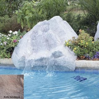 Interfab 420029 500 GPH Keystone Pool Side Waterfall, 45 x 38 x 21 Rustic Sandstone