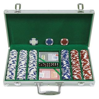 Trademark Poker 11.5g Hold Em Poker Chip Set with Aluminum Case Multicolor   10