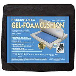 Hudson Pressure Eez Gel/ Foam 20 X 18 X 2 Inch Wheelchair Seat Cushion
