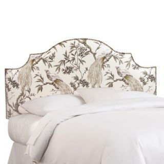 Skyline Full Headboard: : Roberta Nail Button Notched Headboard   Winter