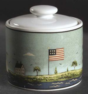 Sakura Coastal Breeze Sugar Bowl & Lid, Fine China Dinnerware   Warren Kimble,Li