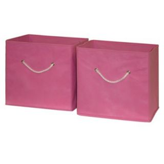 Storage Bin Unit RiverRidge Kids 2 Piece Storage Bins Pink ...