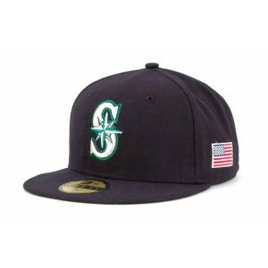 Seattle Mariners New Era MLB AC On Field 9 11 Patch 59FIFTY Cap